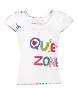 Mira Mikati   Crochet Embroidered T-Shirt