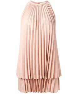 Sara Battaglia   Pleated Dress Size 40