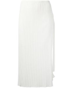 Helmut Lang | Pleated Straight Skirt Small Wool