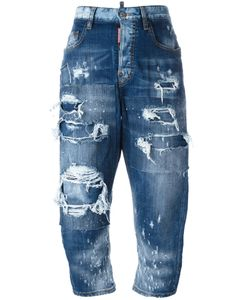 Dsquared2 | Kawaii Distressed Patchwork Jeans 40 Cotton/Spandex/Elastane