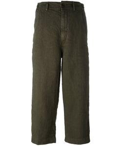 Aspesi | Cropped Pants 42 Linen/Flax