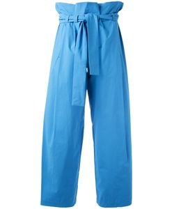 Erika Cavallini | Drawstring High-Waisted Pants 40 Cotton/Spandex/Elastane