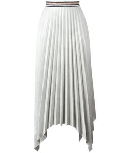Aviù | Pleated Asymmetric Skirt 42 Polyester