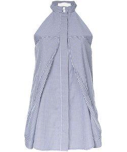 Dion Lee | Checked Halterneck Blouse 12 Cotton