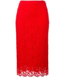 Ermanno Scervino | Lace Pencil Skirt 46 Cotton/Viscose/Polyamide/Silk
