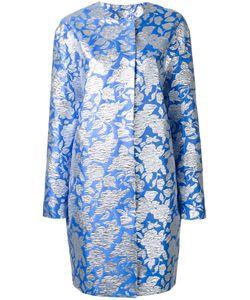 MSGM   Roses Jacquard Midi Coat 42 Polyester/Polyamide Fibre