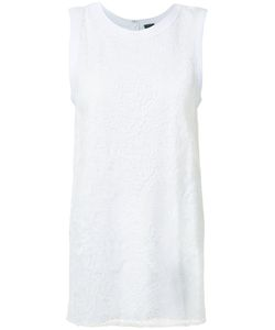 Vera Wang | Lace Panel Tank Top Medium Cotton/Satin