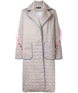 ANNA OCTOBER | Padded Effect Midi Coat Medium Cotton