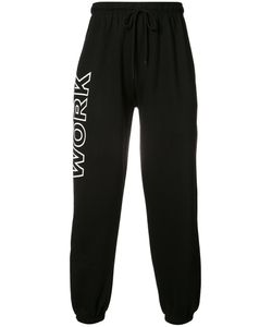 Andrea Crews   Work Print Sweatpants Medium Cotton/Polyester