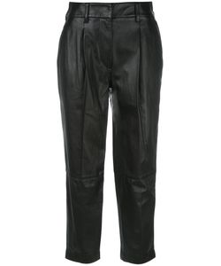 3.1 Phillip Lim | Cropped Trousers 0 Polyester/Lamb Skin