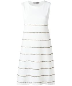 D.exterior | Embroidered Trim Dress Size Medium