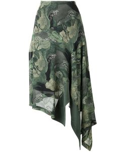 Antonio Marras | Trees Print Asymmetric Skirt 42 Polyester/Acetate/Viscose/Cupro