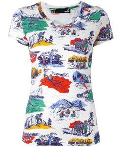 Love Moschino   Camping Print T-Shirt