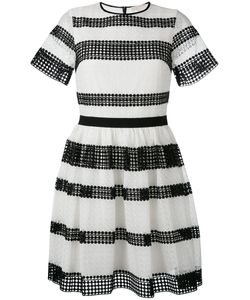 Michael Michael Kors | Striped Pleated Dress 0 Polyester/Cotton