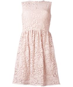 Red Valentino | Macramé Fla Dress 40 Cotton/Silk/Polyester/Polyamide