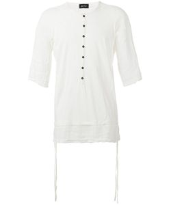 ANDREA YA'AQOV | Linen-Trimmed T-Shirt Size Large