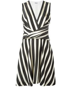 MSGM | Striped Fla Dress 40 Cotton/Viscose/Polyester