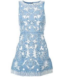 Alice + Olivia | Embroidered Denim Dress 2