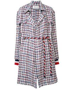 Michel Klein | Belted Tweed Coat Size
