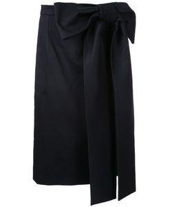Holly Fulton | Oversized Bow Straight Skirt 10 Cotton/Spandex/Elastane