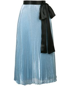 Christopher Kane | Pleated Tie Waist Midi Skirt