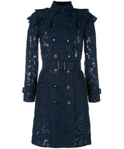 Burberry | Embroide Double Breasted Coat 8 Cotton/Viscose/Polyamide/Silk