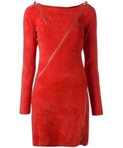 Jitrois | Zip Detail Bodycon Dress 36 Lamb Skin/Cotton/Spandex/Elastane