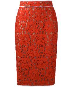 MSGM | Lace Pencil Skirt 40 Cotton/Polyamide/Viscose/Polyester