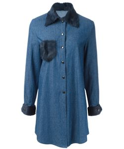 Liska | Fur Trim Shirt Dress Size