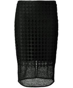 Diane Von Furstenberg | Sheer Embroidered Pencil Skirt
