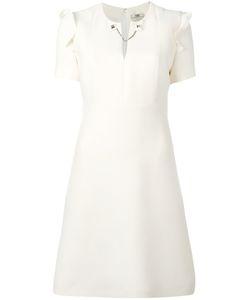 Fendi | Chain Detail Neckline Dress 42 Wool/Silk