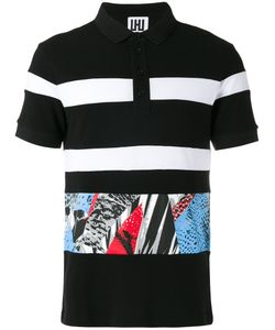 Les Hommes Urban | Multi-Print Polo Top Size Xl