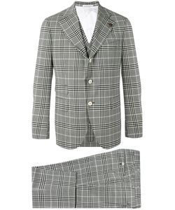 GABRIELE PASINI | Checked Three-Piece Suit Size 48