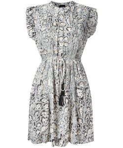Just Cavalli | Animal Print Pleated Dress 42 Cotton/Polyester