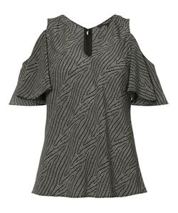 Derek Lam | Cut-Off Shoulders V-Neck Blouse