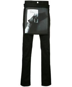 Raf Simons | Printed Apron Slim-Fit Jeans