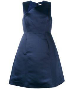 Halston Heritage   Asymmetric Neckline Dress