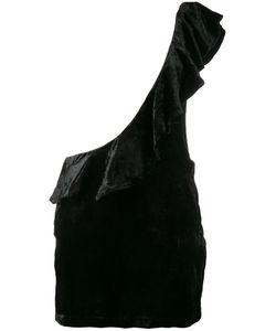 Filles A Papa | Ruffled Velvet One-Shoulder Dress Women