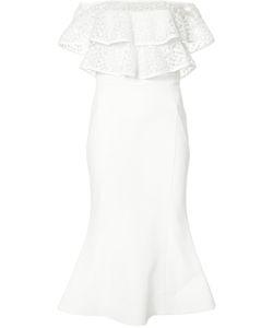 Rebecca Vallance | Farina Flare Midi Dress 14 Nylon/Polyester/Spandex/Elastane/Rayon