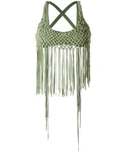 AMIR SLAMA | Fringed Bikini Top Medium Elastodiene