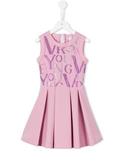 Young Versace | Beaded Logo Pleated Dress 6 Yrs