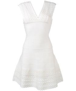 Hervé Léger   Cut-Out Details Flared Dress