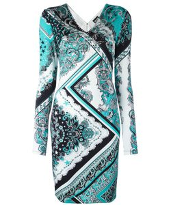 Just Cavalli | Paisley Patterned Dress 46 Viscose/Spandex/Elastane