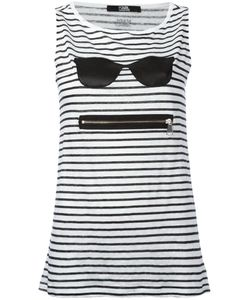 Karl Lagerfeld | Striped Zipped Top