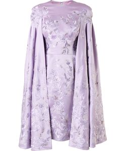 Divina   Embroide Cape Dress 38 Silk