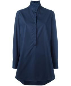 Akris | High Standing Collar Shirt 38 Cotton/Polyester