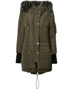 Veronica Beard | Fur Trim Buttoned Up Coat Medium Fox