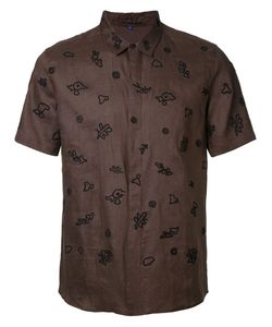 Jupe By Jackie | Printed Shirt Small Linen/Flax