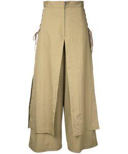 G.V.G.V. | G.V.G.V. Lace Up Layered Wide Trousers