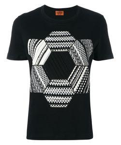 Missoni   Knitted Patch T-Shirt Small Cotton/Nylon/Spandex/Elastane/Cotton